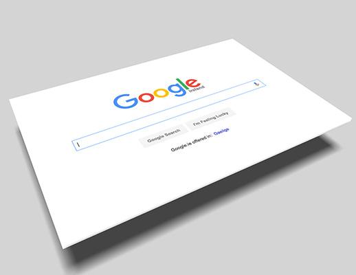 Screenshot af Googles søgemaskine