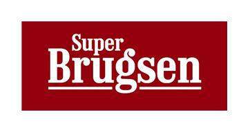 Superbrugsen logo i røde og hvide farver
